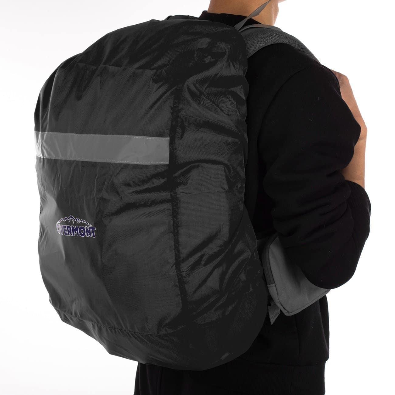 Overmont Housse/Protection/Couverture de sac à dos anti-pluie imperméable avec bande réfléchissante pour camping, randonnée, transport etc.